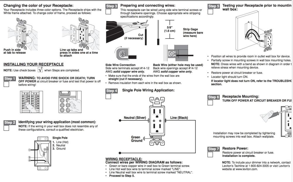 medium resolution of outlet instructions electrical wiring