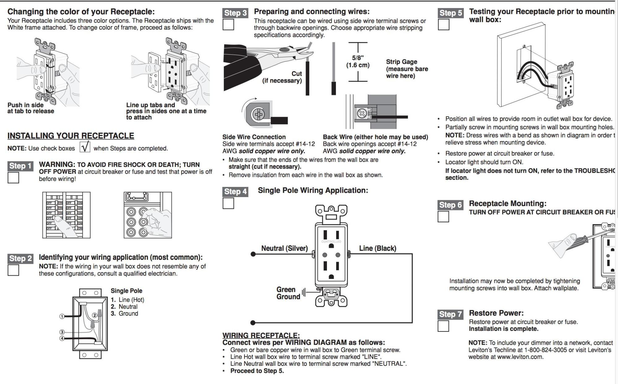 hight resolution of outlet instructions electrical wiring