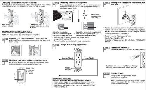 small resolution of outlet instructions electrical wiring
