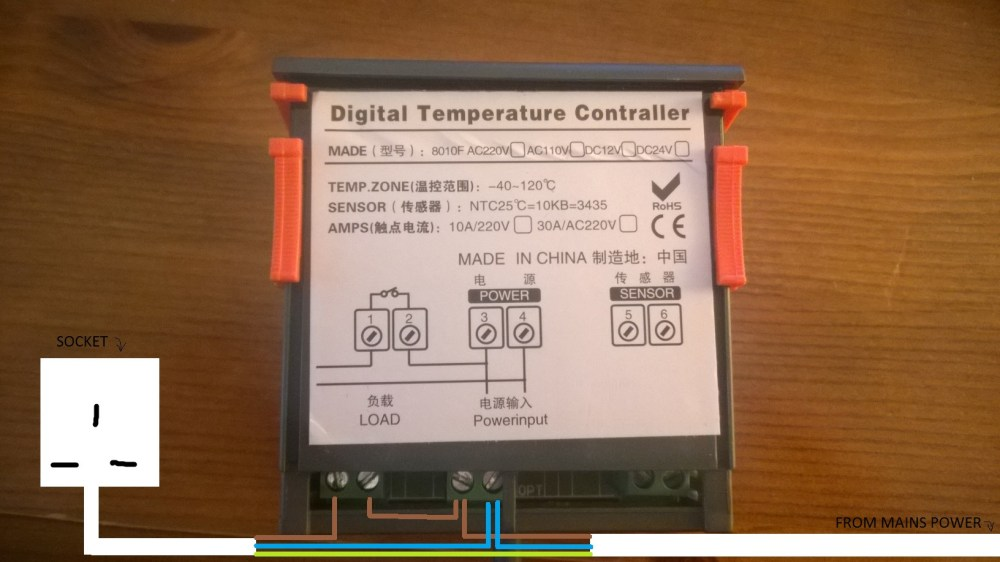 medium resolution of advice on wiring power supply to digital temperature controller electric brake controller wiring diagram temperature controller wiring diagram
