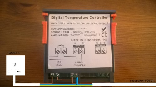 small resolution of advice on wiring power supply to digital temperature controller electric brake controller wiring diagram temperature controller wiring diagram