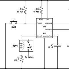 Wiring Diagram For Latching Relay 2000 Mustang Gt Radio Delay With A Timed Electrical Engineering Stack Schematic