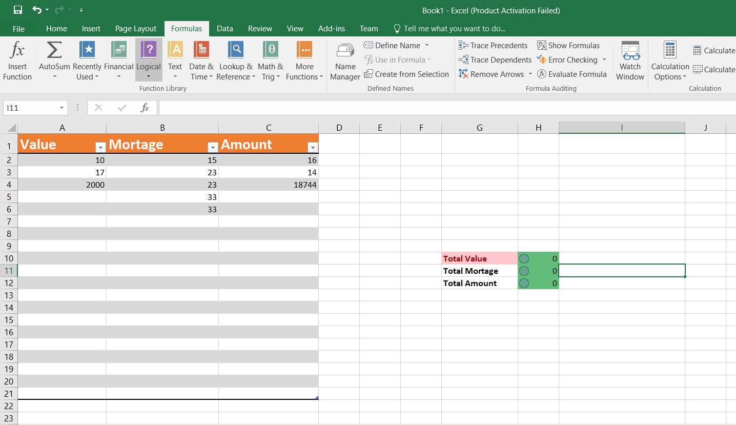 Sum All New Dynamic Rows Records Excel Sheet