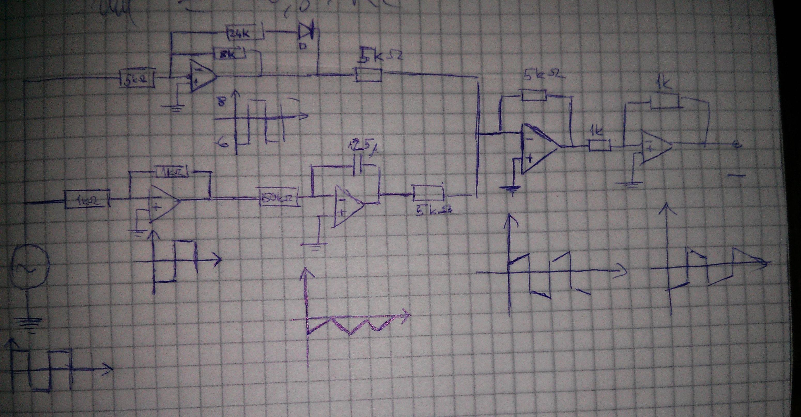 Op Amp Designing Op Amp Circuit That Has The Following Signal At The