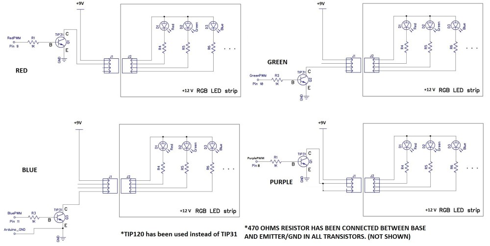 medium resolution of transistors what is the problem with my led panel switching pump control panel wiring diagram four