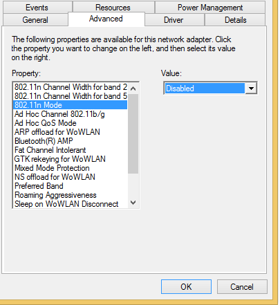 Windows 10 wifiの問題:「このネットワークに接続できません」