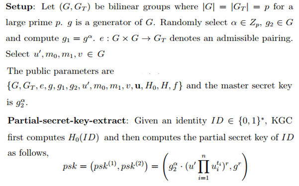 certificateless crypto  Example of CL PKC  Cryptography