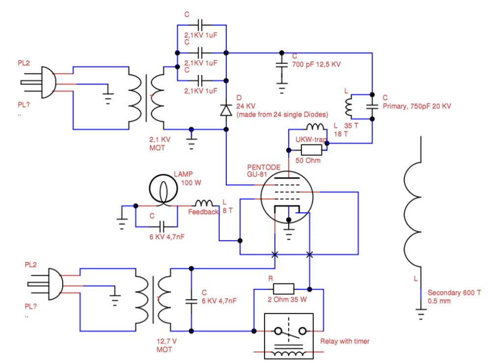medium resolution of vacuum tube tesla coil vttc schematic interpretation electrical tesla coil wiring diagram tesla coil diagram math