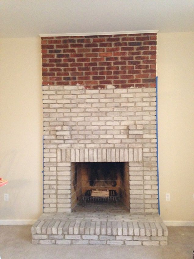 Painted Brick Fireplaces Painting Brick Fireplaces Brick Should I Use Heat Resistant Paint When Whitewashing A