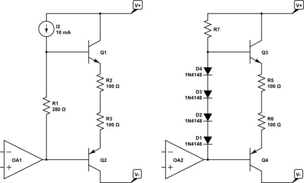 circuitlab class ab amplifier