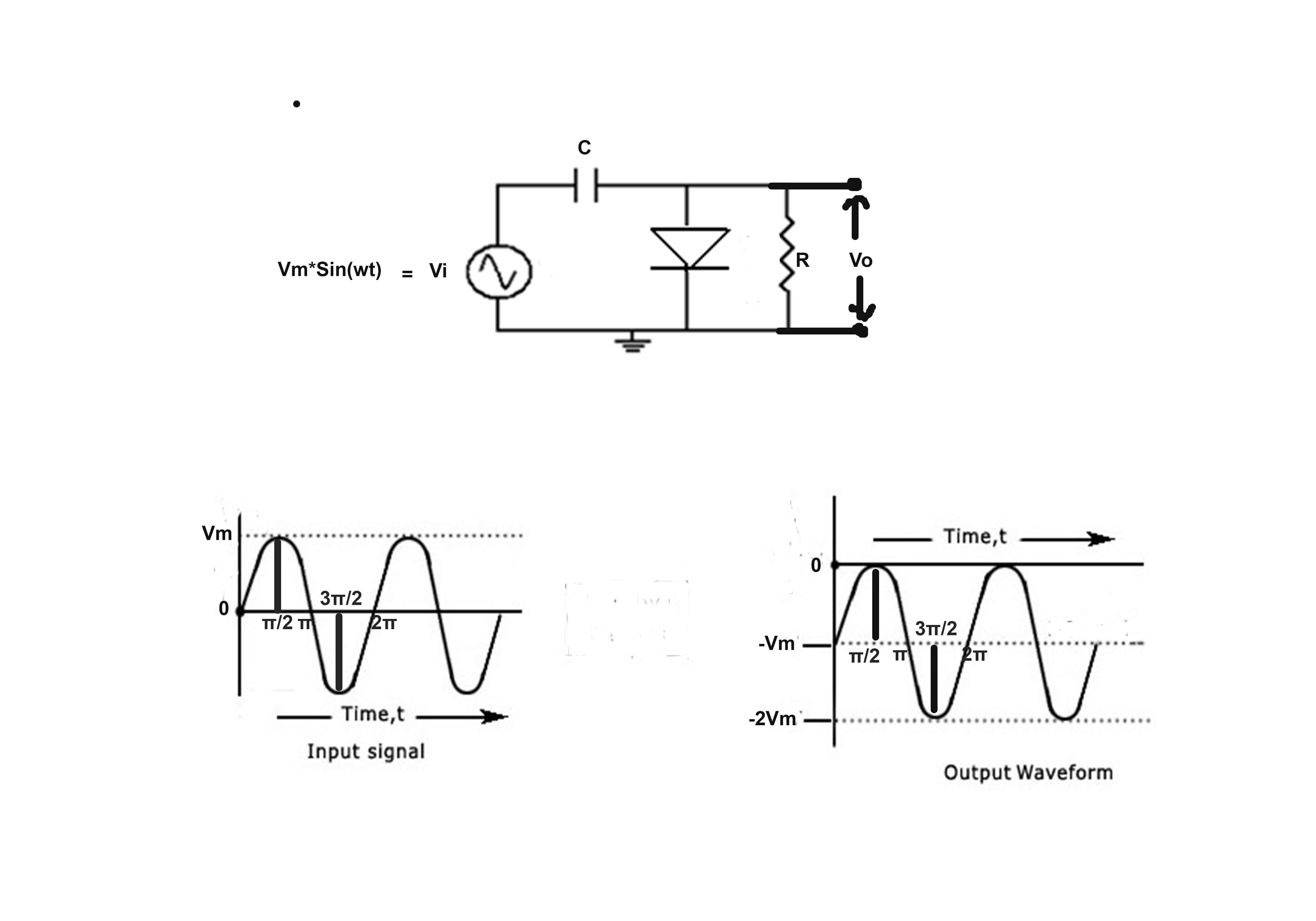circuit diagram of clipper and clamper semi auto pistol parts capacitor output diode for a