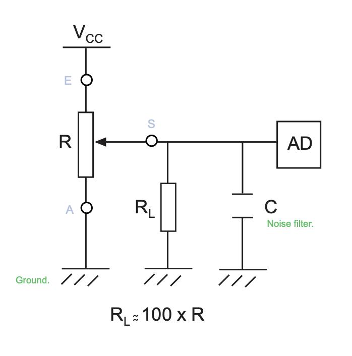 Resistor Parallel To Potentiometer