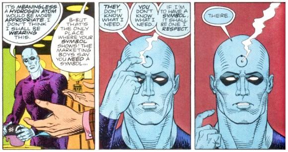 Dr. Manhattan chooses his symbol