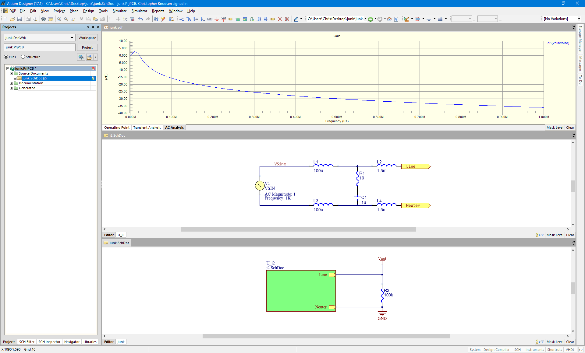 Simulation In Altium Designer How To Simulate Multi Sheet Schematics