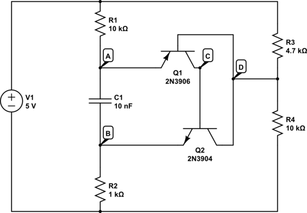 Why won't my 2-transistor oscillator work in the real