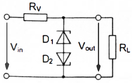 Voltage Clipping with Two Series-Opposing Zener Diodes