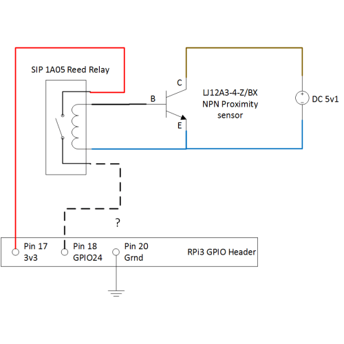 small resolution of connecting npn proximity sensor to rpi3 using reed relay