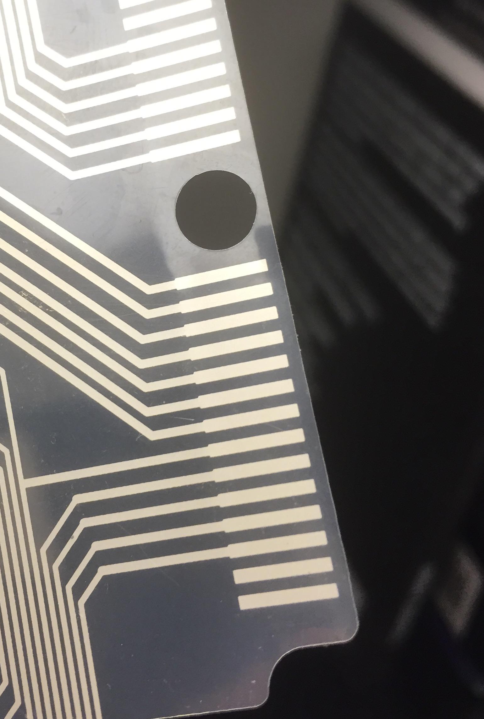 hight resolution of  plastic sheet taken from keyboard