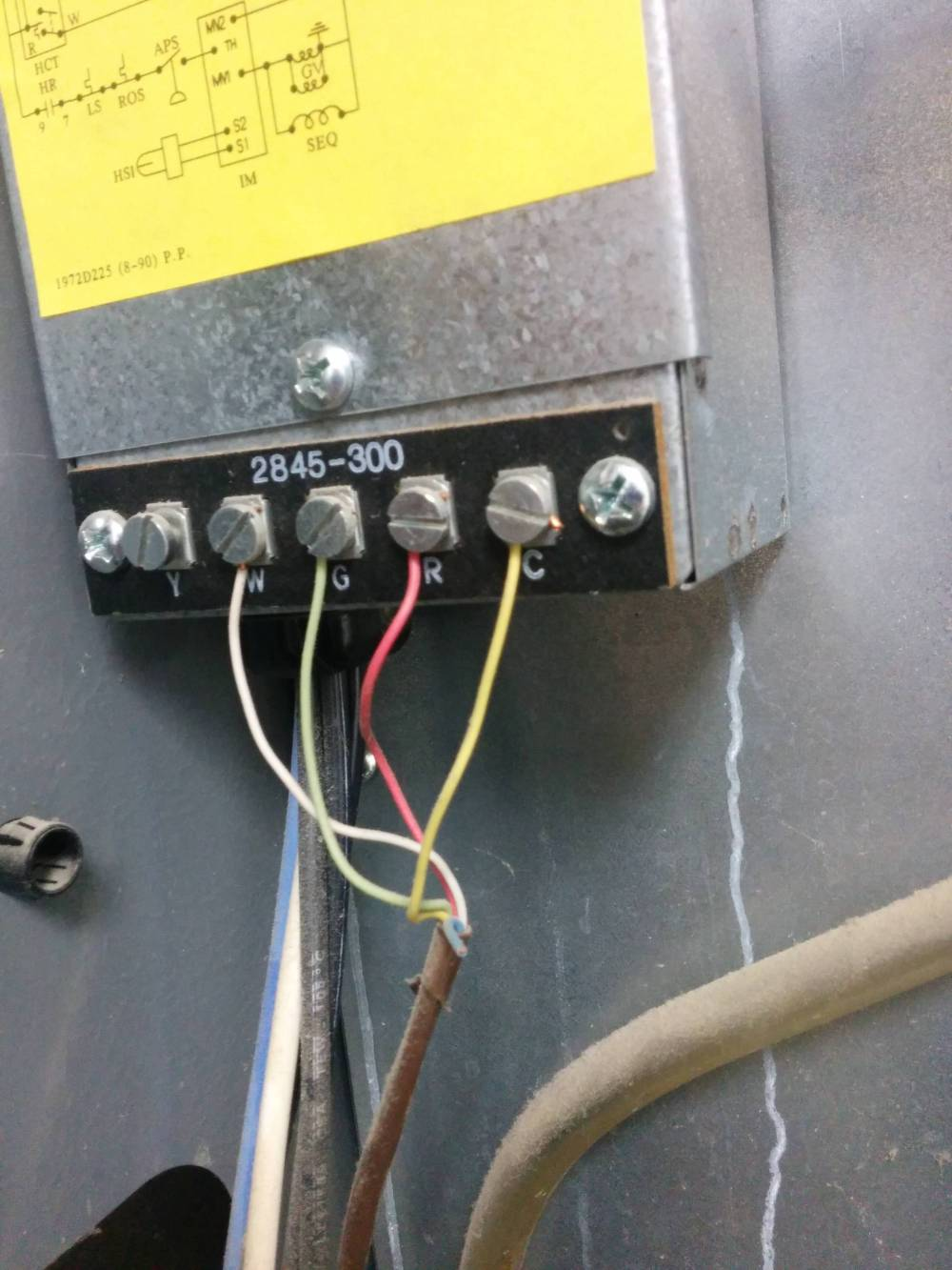 medium resolution of furnace model furnace control board t stat wiring