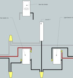 electrical need help adding fan to existing 3 way switch setup rh diy stackexchange com wiring three way switch ceiling fan light 3 way light wiring diagram [ 2880 x 1432 Pixel ]