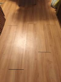The vinyl plank click flooring I installed in two rooms ...