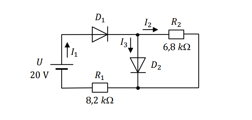 Circuit analysis with resistance and diode