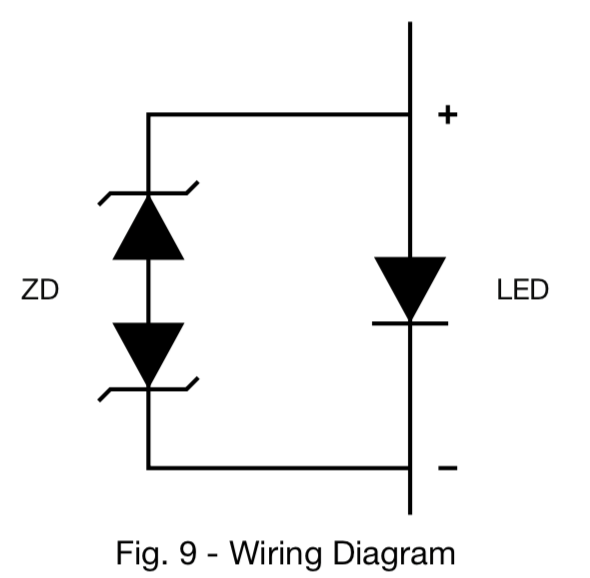 Role of zener diodes accompanying High power UV Diodes