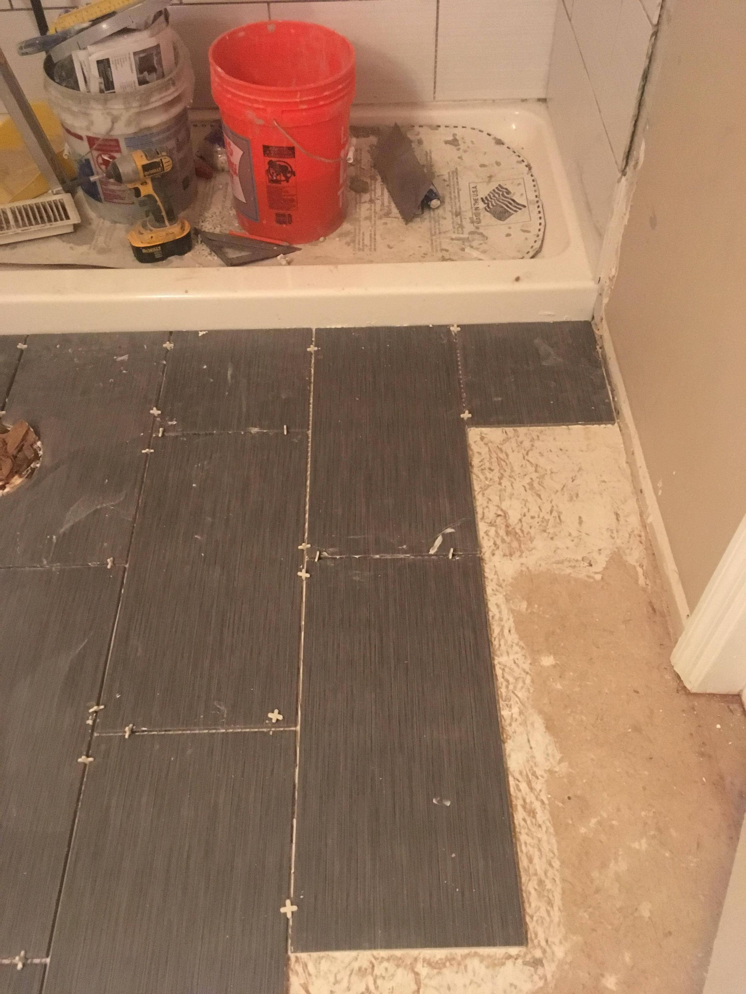 tile directly adhered to subfloor