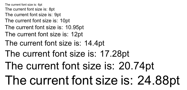 Fontsize  What Point (pt) Font Size Are \large Etc