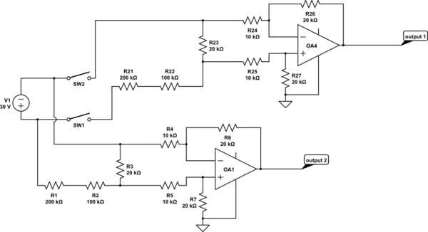 Divider Circuit And The Differential Op Amp Circuit Since The Op Amp