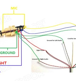 headphones volume controls do not work after 4 pole jack repairreplace headphone plug diagram 1 [ 1366 x 750 Pixel ]