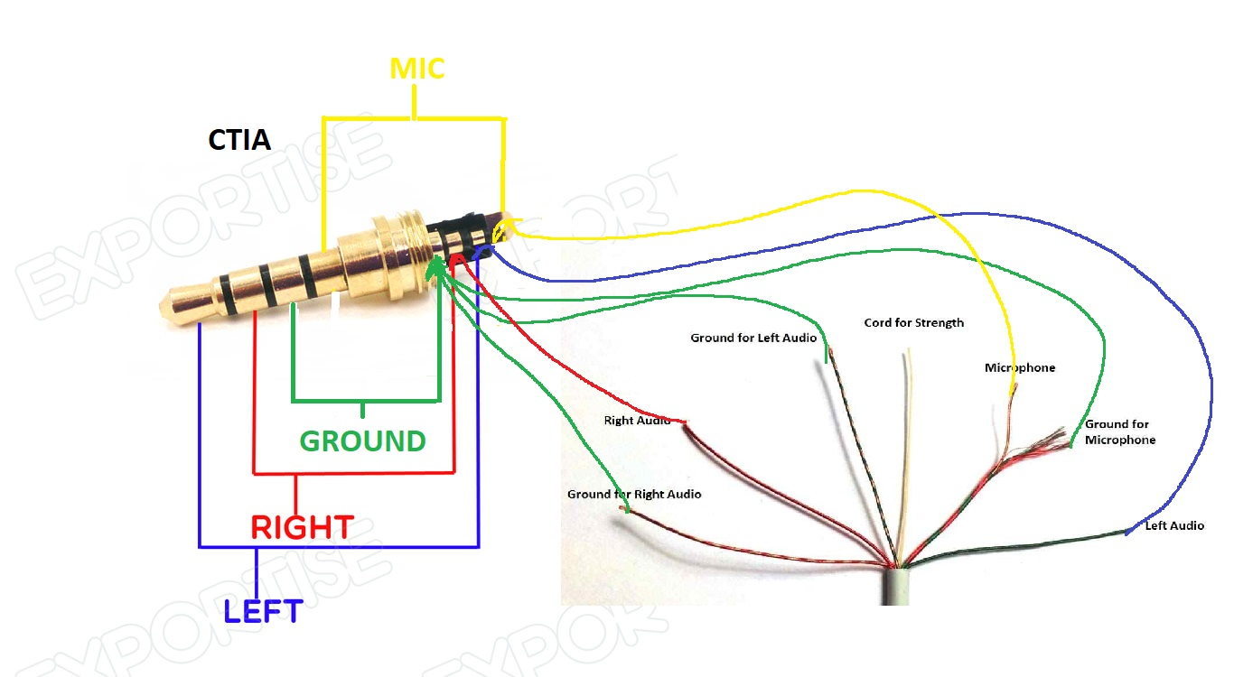hight resolution of headphones volume controls do not work after 4 pole jack repairreplace headphone plug diagram 1