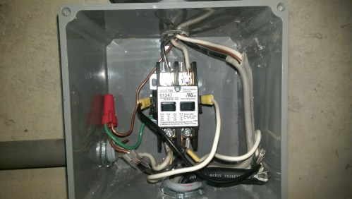small resolution of wired contactor