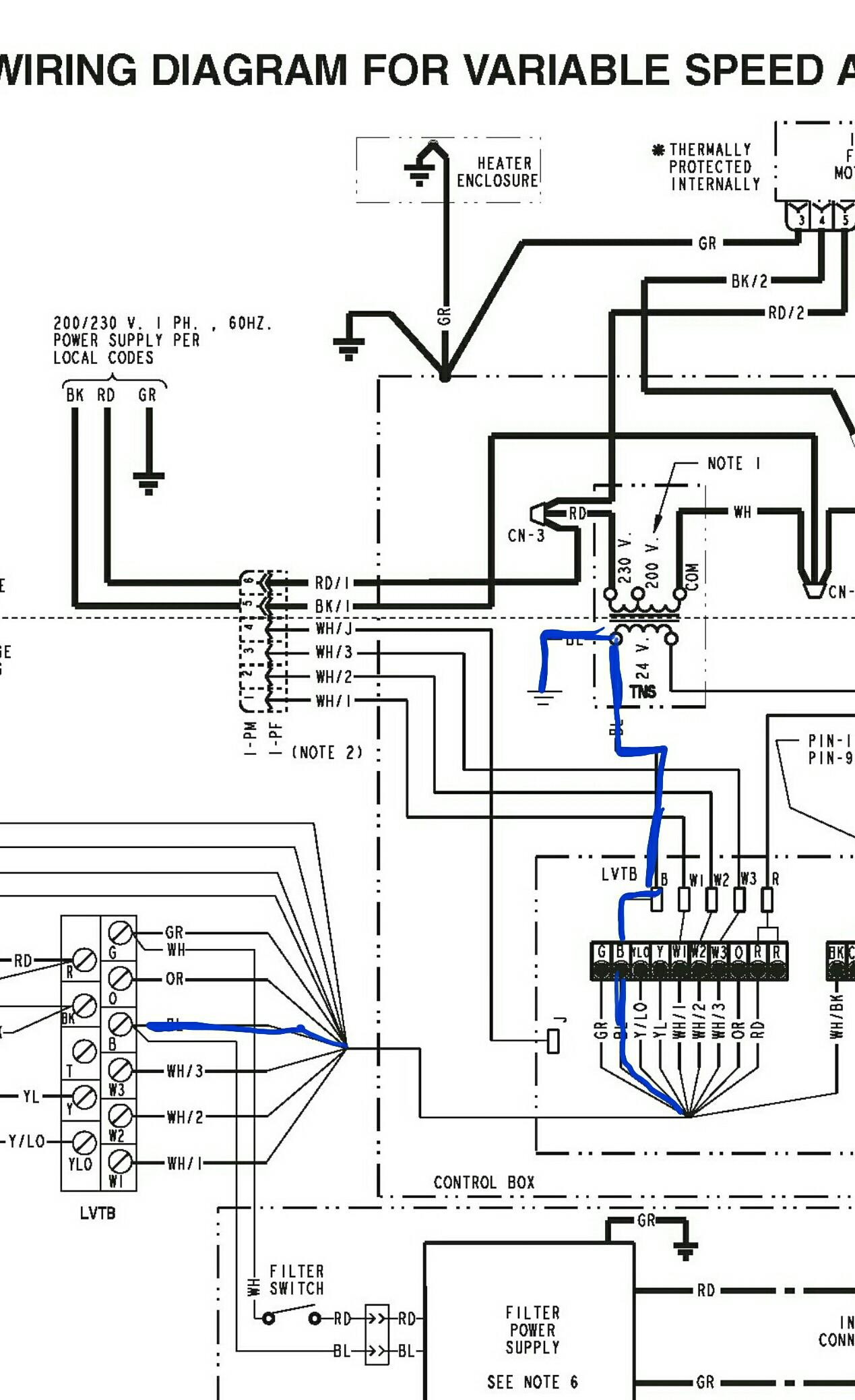 trane air handler wiring diagram club car gas electrical c wire missing variable