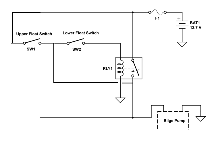 dual float switch wiring diagram 2001 saturn sl1 starter relay switches for a boat s bilge pump electrical enter image description here