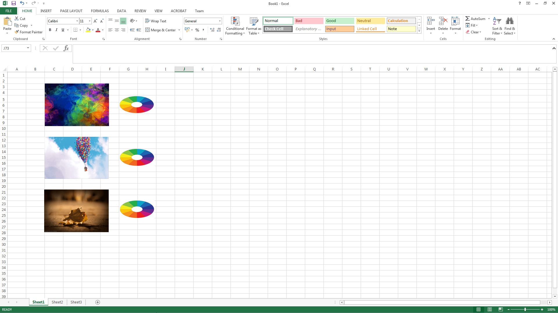 Set Specific Position For Image Displayed In Excel
