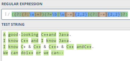 regex - Javascript regular expression for matching whole words including special characters - Stack Overflow