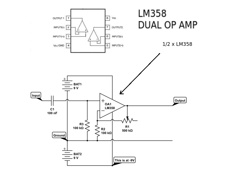 Amplifier stopped working completely after changing op-amp