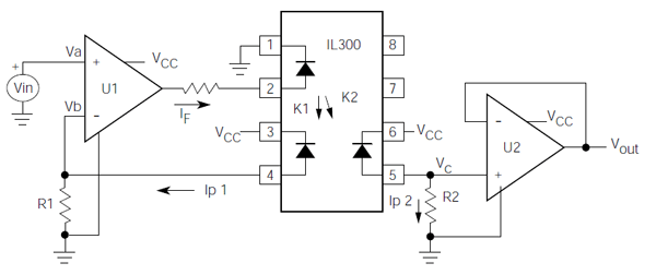 Galvanic separation between a microcontroller and a motor