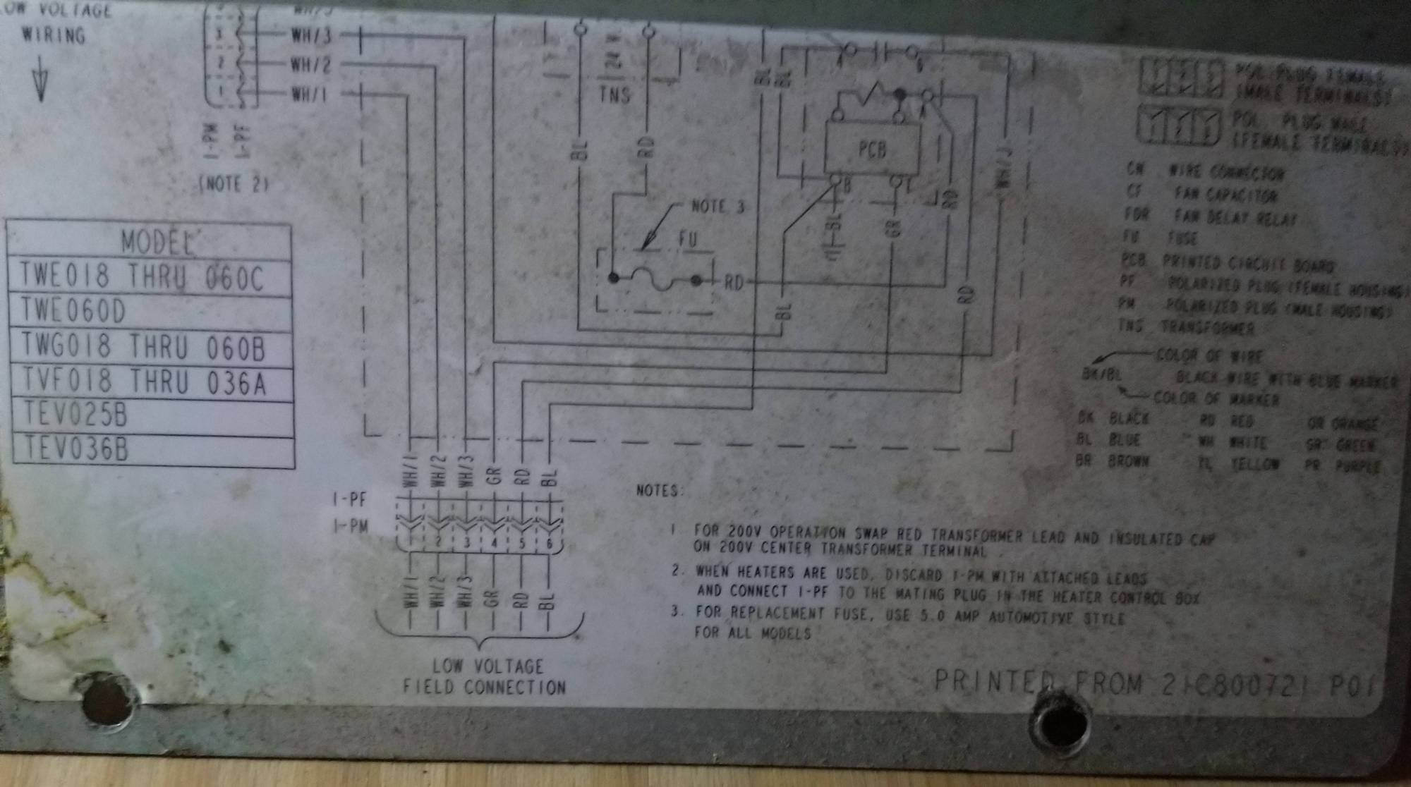 hight resolution of wiring a replacement hvac blower motor for an american standard heatair handler model american standard train twe036c140b0 wiring diagram wiring diagram