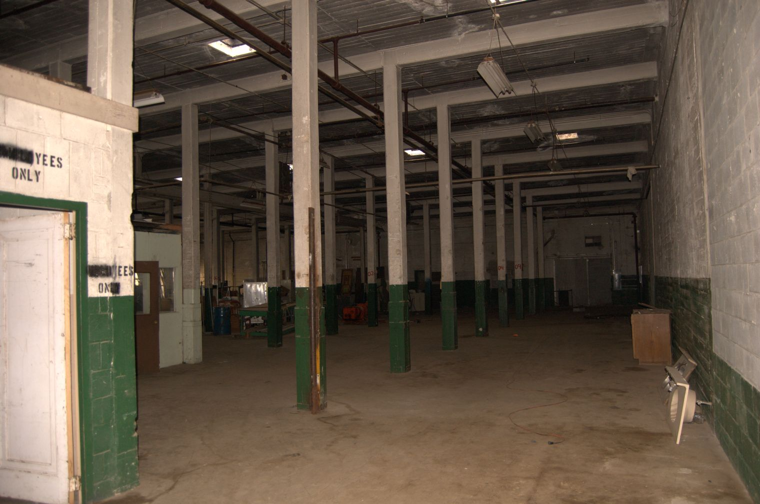 How should I prepare an allconcrete warehouse space