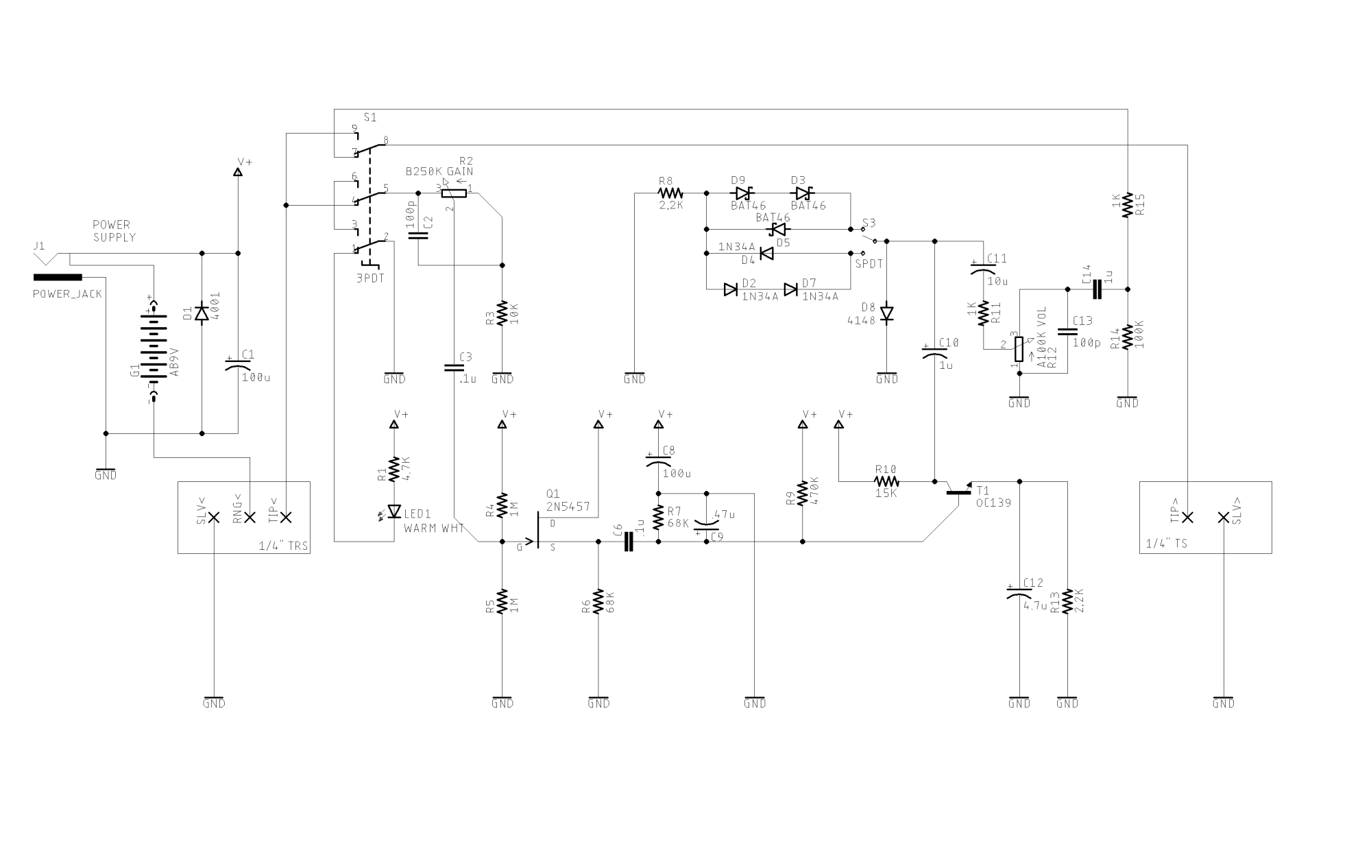 hight resolution of voltage drive transistor harder for more distortion electrical guitar pot wiring electrical engineering stack exchange