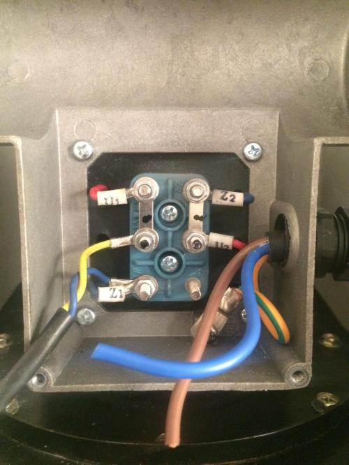 small resolution of photo of motor wiring enclosure