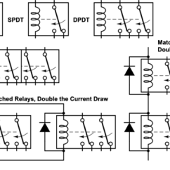 Dpdt Relay Wiring Diagram 1966 Corvette Fuel Gauge Double Pole Diagrams Schematic Combine Two Relays To Make A 4pdt Electrical 12 Volt