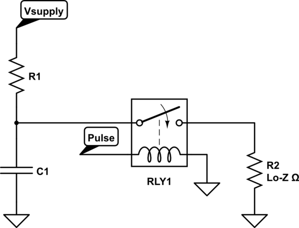Device/circuit for high current, short pulse discharge