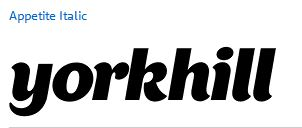 Which font is used for the Yorkhill Children's Charity