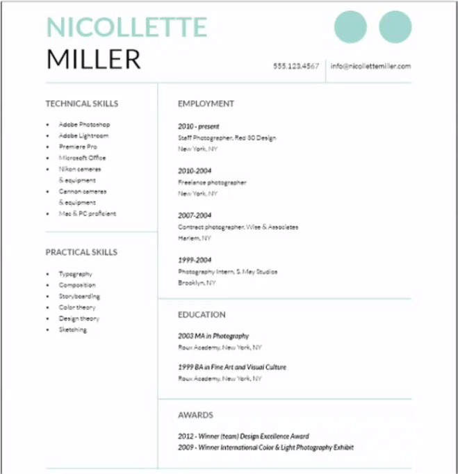 resume  Cover Letter using InDesign  Graphic Design Stack Exchange
