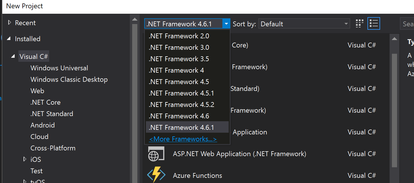 visual studio - Can't create a project in .NET Framework 4.7 - Stack Overflow