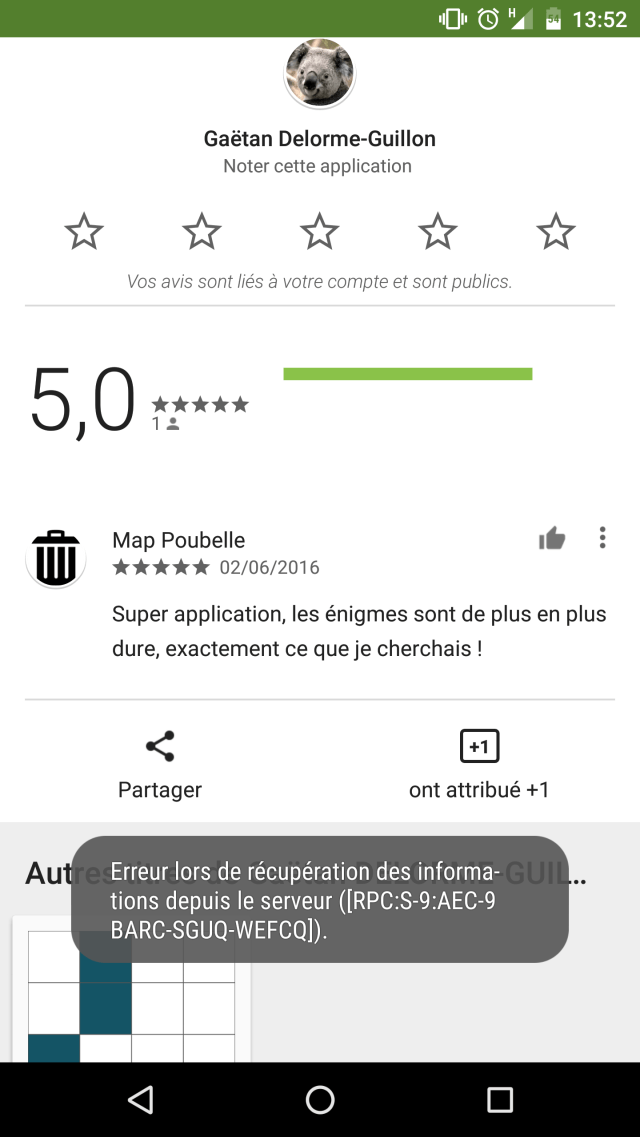 No one can write a review for a new app in Google Play Store if I