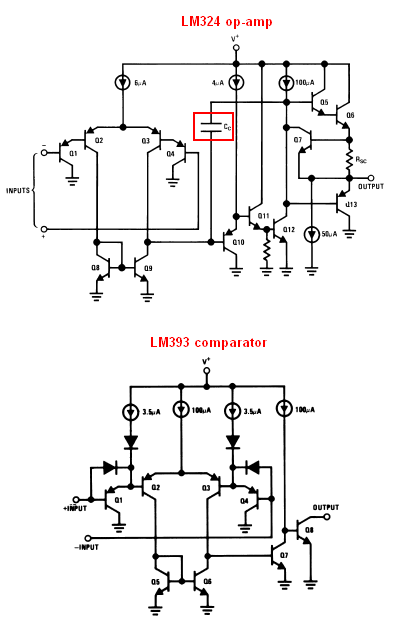 Can a comparator (LM393) be used as an amplifier